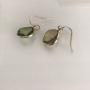 Francesca's Green Translucent Drop Earrings